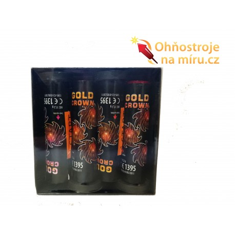 Pyrotechnika výmetné trubice Gold Crown 4 ks.